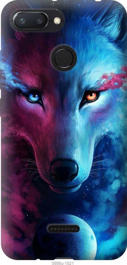Чехол на Oppo A5S Арт-волк