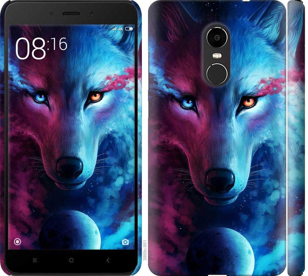 Чехол на Xiaomi Redmi Note 4X Арт-волк