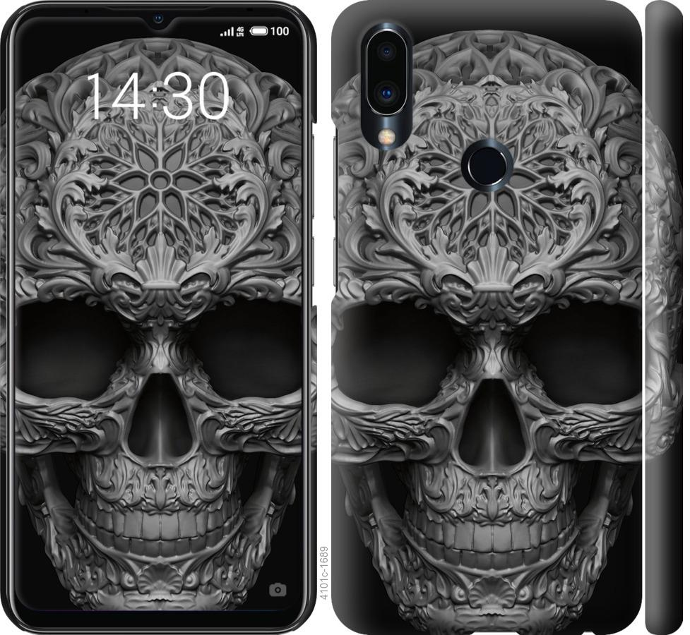 Чехол на Meizu Note 9 skull-ornament