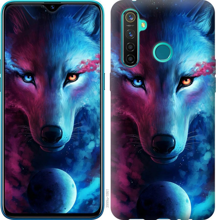 Чехол на Realme 5 Pro Арт-волк