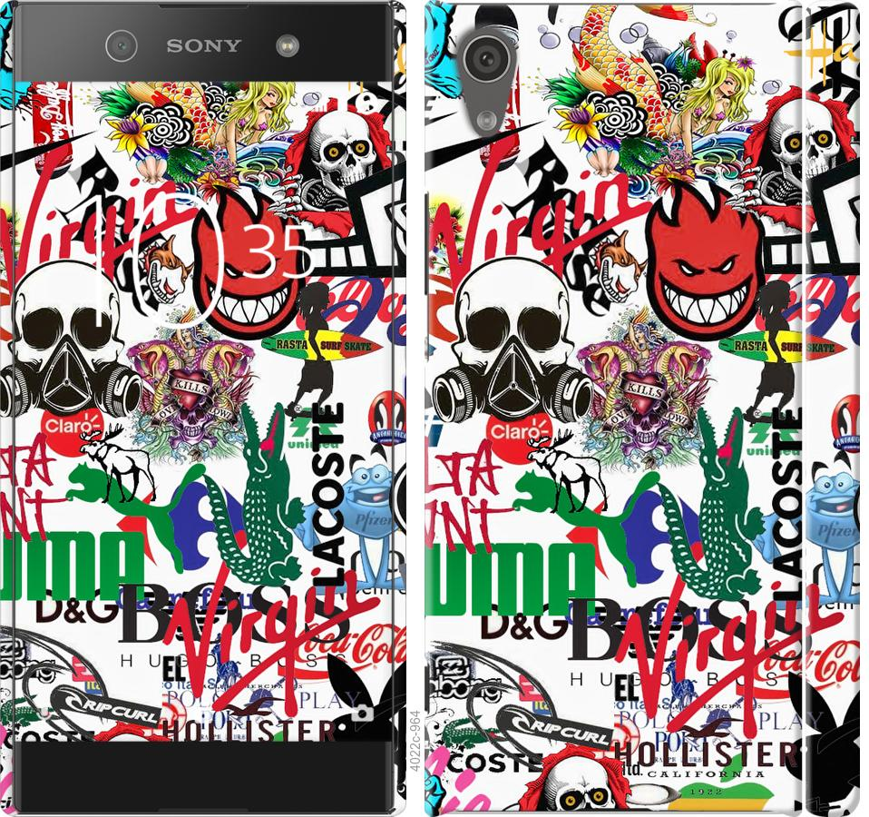 Чехол на Sony Xperia XA1 G3112 Many different logos