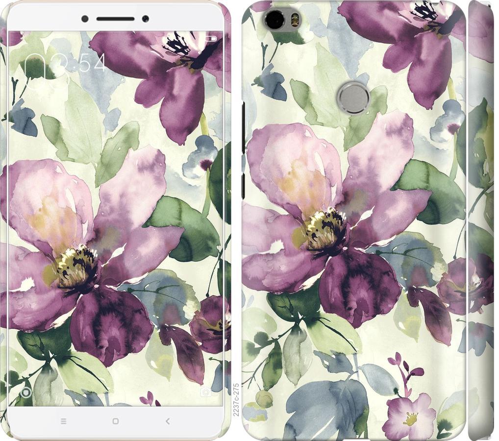 Чехол на Xiaomi Mi Max Цветы акварелью