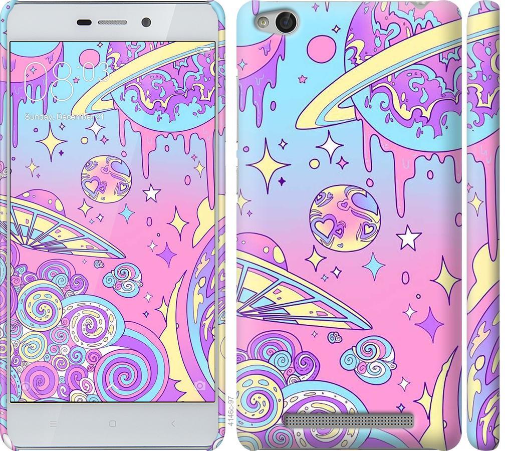 Чехол на Xiaomi Redmi 3 Розовая галактика