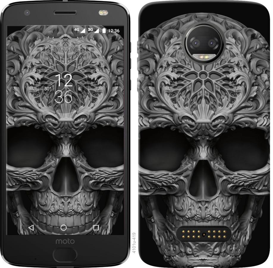 Чехол на Motorola Moto G5 PLUS skull-ornament