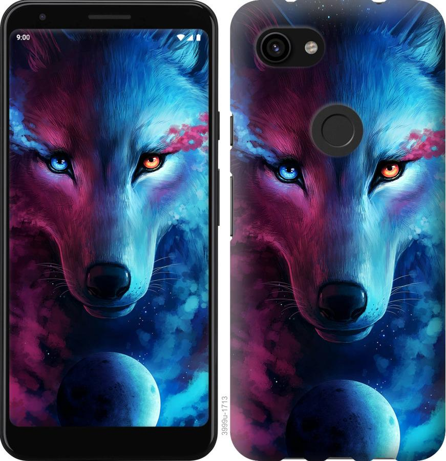 Чехол на Google Pixel 3a XL Арт-волк