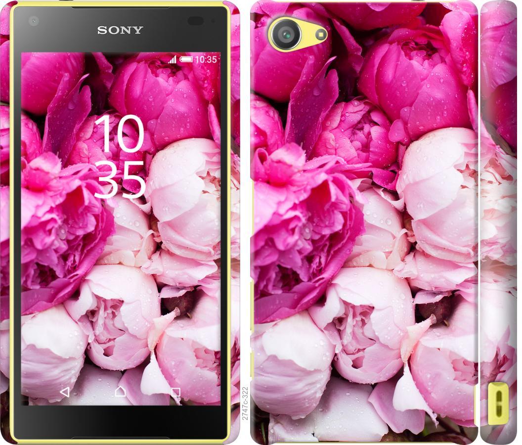 Чехол на Sony Xperia Z5 Compact E5823 Розовые пионы