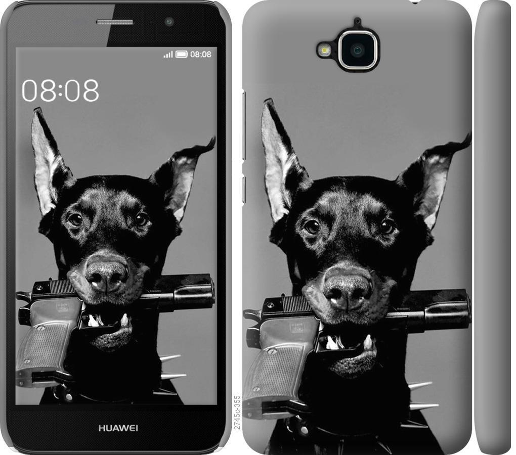 Чохол на Huawei Y6 Pro Доберман