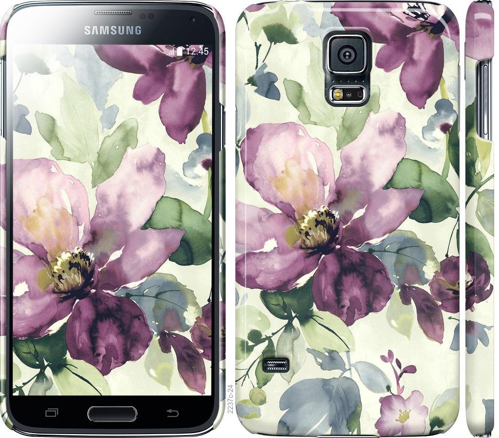 Чехол на Samsung Galaxy S5 g900h Цветы акварелью