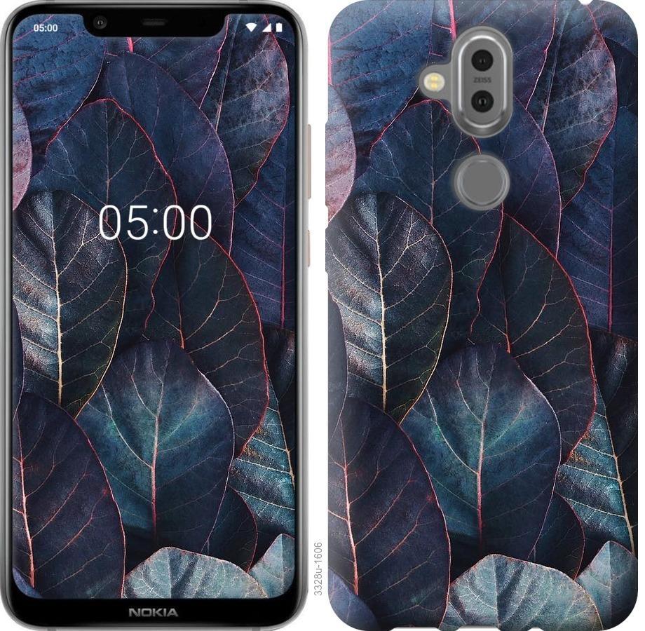 Чехол на Nokia 8.1 Листья v3