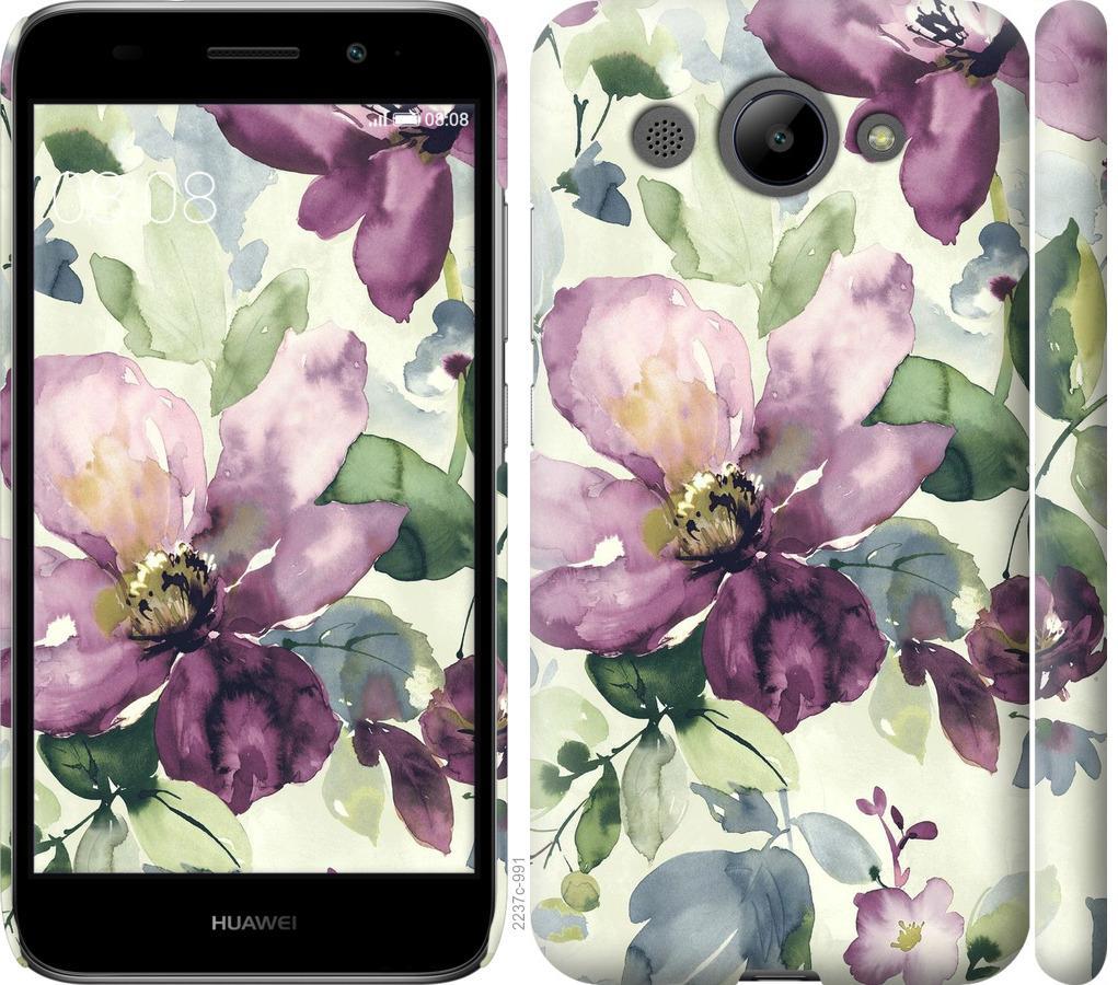 Чохол на Huawei Y3 2017 Квіти аквареллю