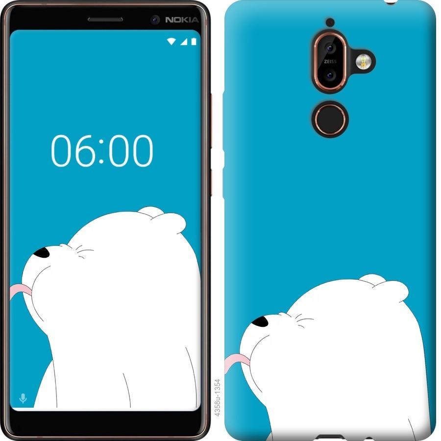 Чехол на Nokia 7 Plus Мишка 1