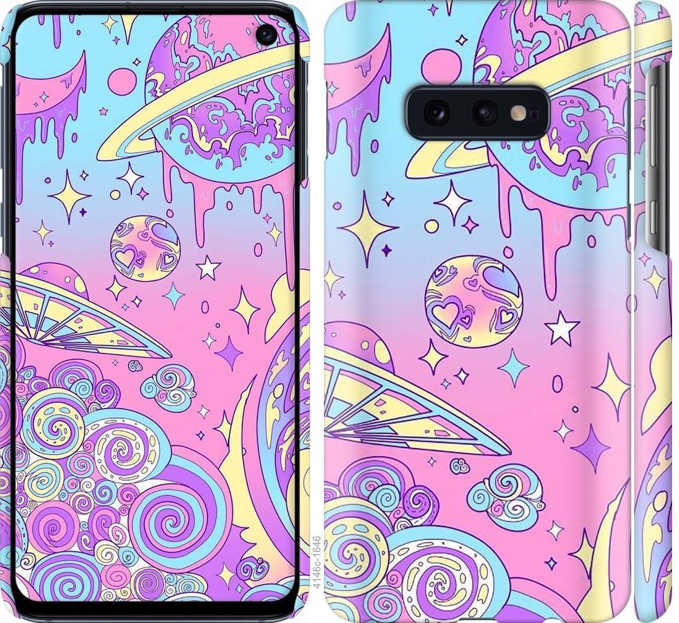 Чехол на Samsung Galaxy S10e Розовая галактика