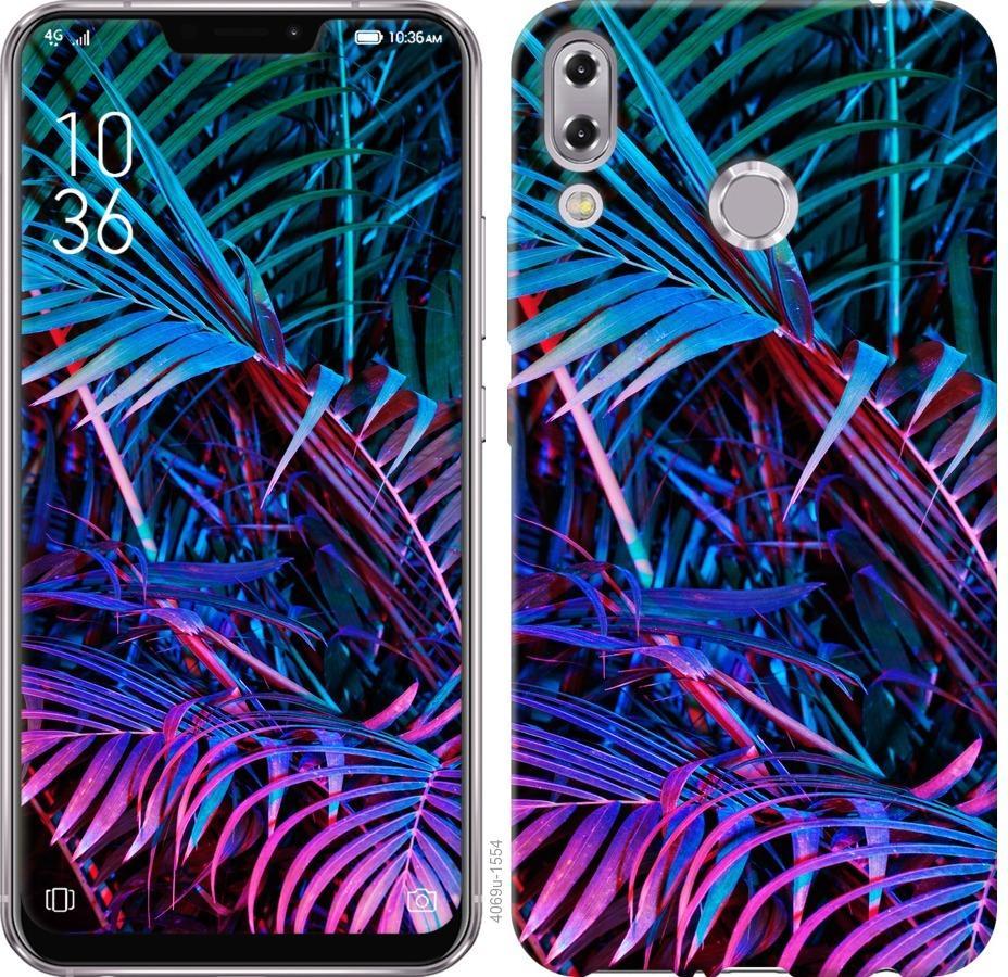 Чехол на Asus Zenfone 5 ZE620KL Папоротник под ультрафиолетом