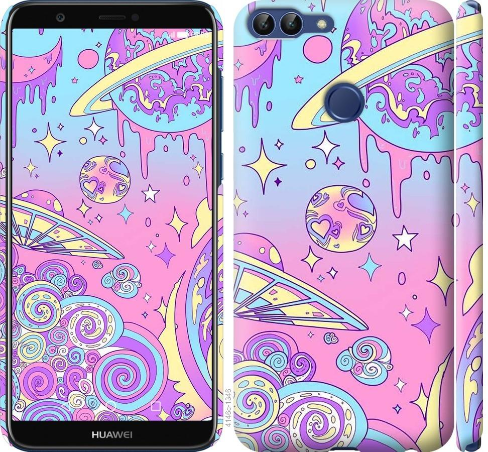 Чехол на Huawei P Smart Розовая галактика