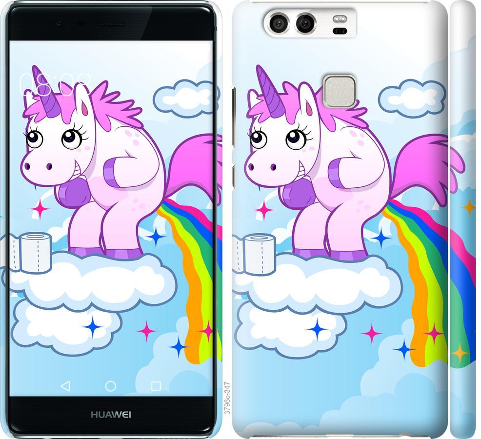 Чехол на Huawei P9 Единорожка