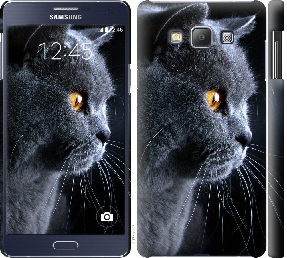 Чехол на Samsung Galaxy A7 A700H Красивый кот