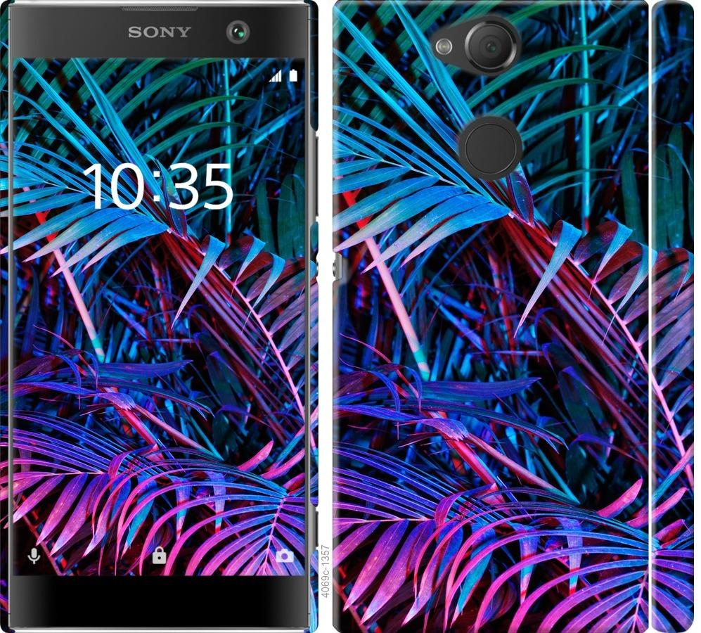Чехол на Sony Xperia XA2 H4113 Папоротник под ультрафиолетом