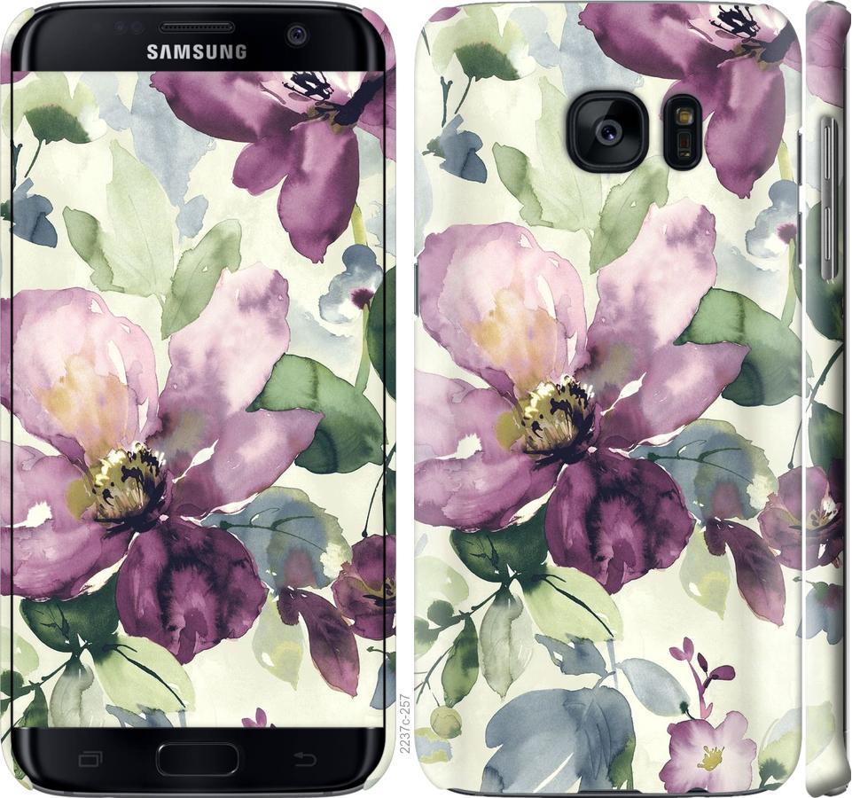 Чехол на Samsung Galaxy S7 Edge G935F Цветы акварелью