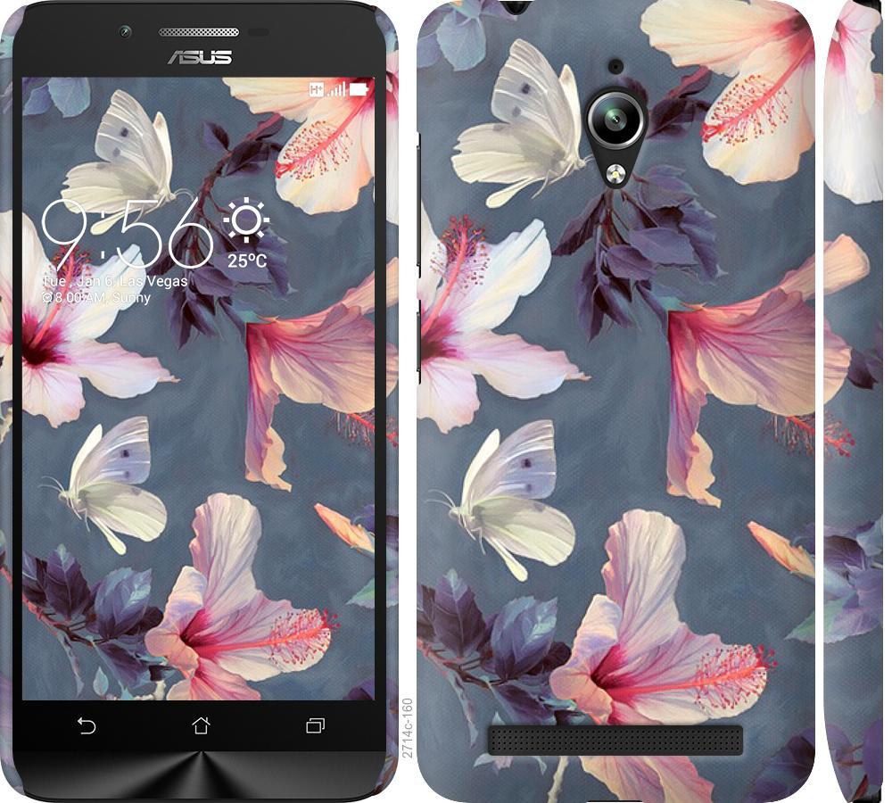 Чехол на Asus Zenfone Go ZC500TG Нарисованные цветы