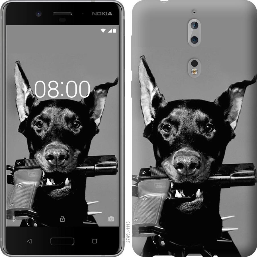 Чехол на Nokia 8 Доберман