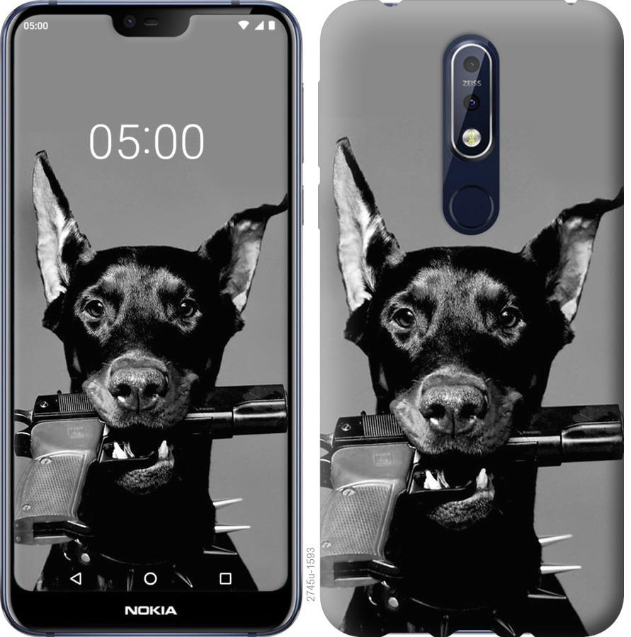 Чехол на Nokia 7.1 Доберман