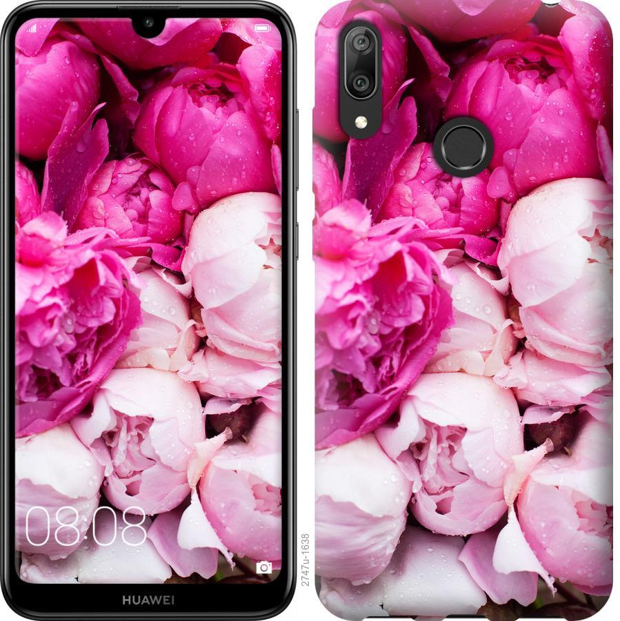 Чехол на Huawei Y7 2019 Розовые пионы