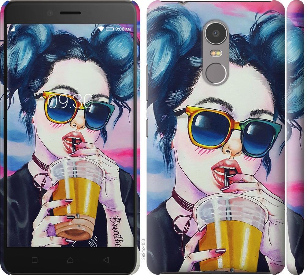 Чехол на Lenovo K6 Note Арт-девушка в очках
