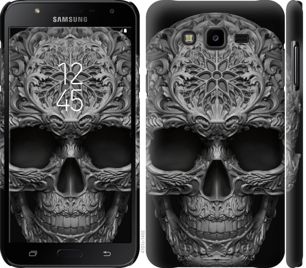 Чехол на Samsung Galaxy J7 Neo J701F skull-ornament