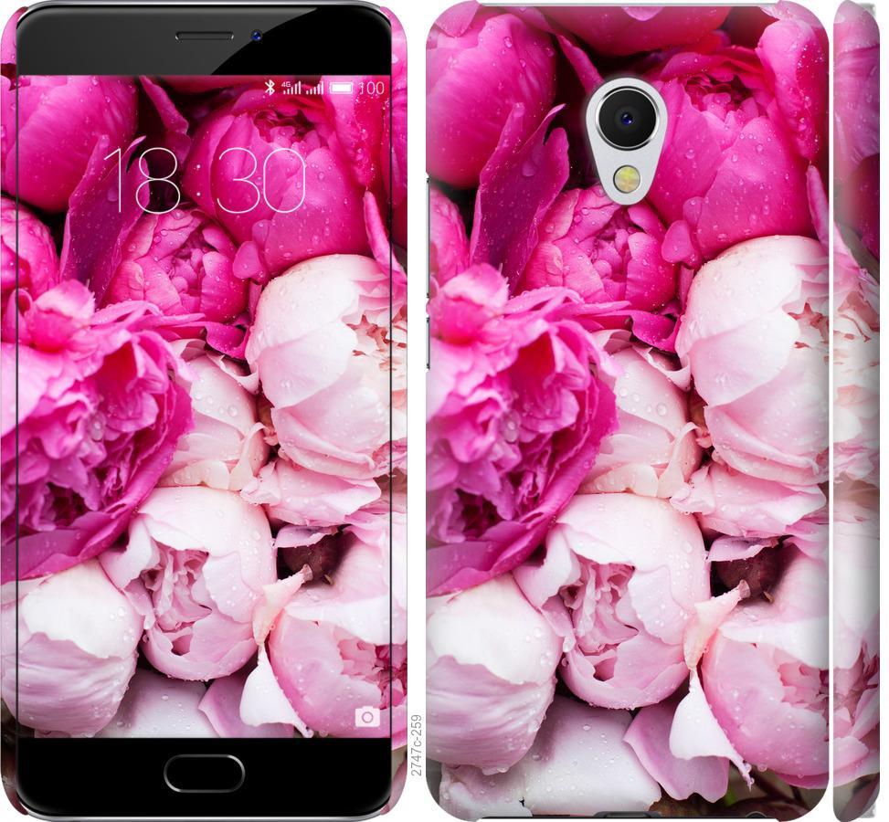 Чехол на Meizu MX6 Розовые пионы