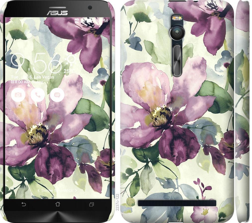 Чехол на Asus Zenfone 2 ZE551ML Цветы акварелью