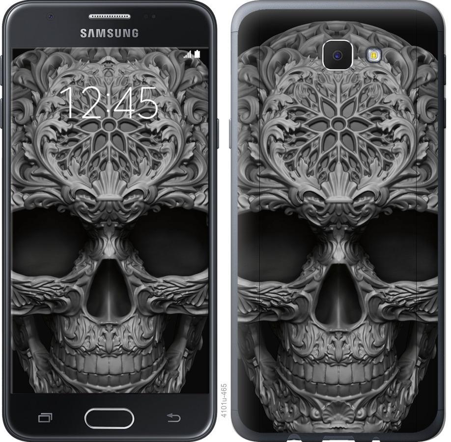 Чехол на Samsung Galaxy J5 Prime skull-ornament