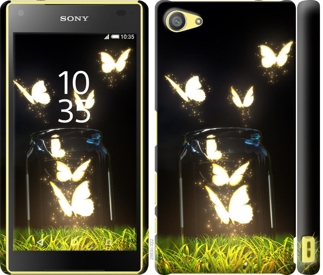 Чехол на Sony Xperia Z5 Compact E5823 Светящиеся бабочки
