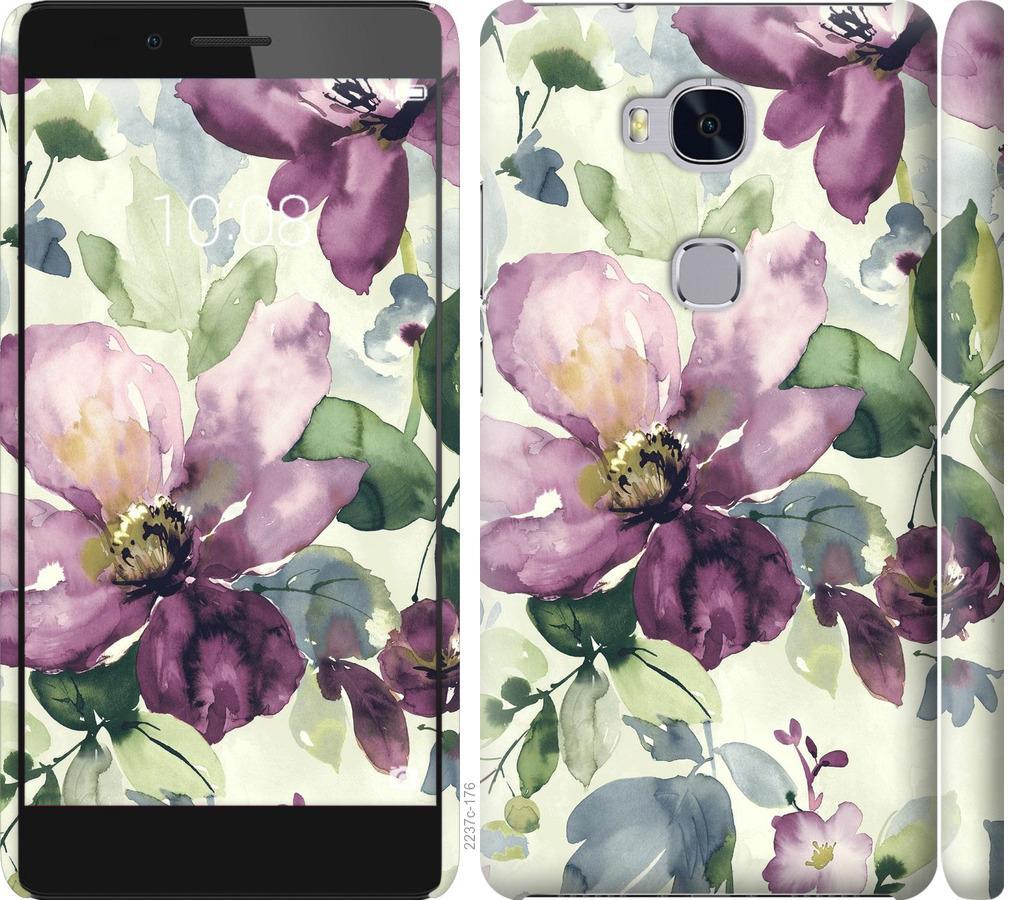 Чехол на Huawei Honor 5X Цветы акварелью
