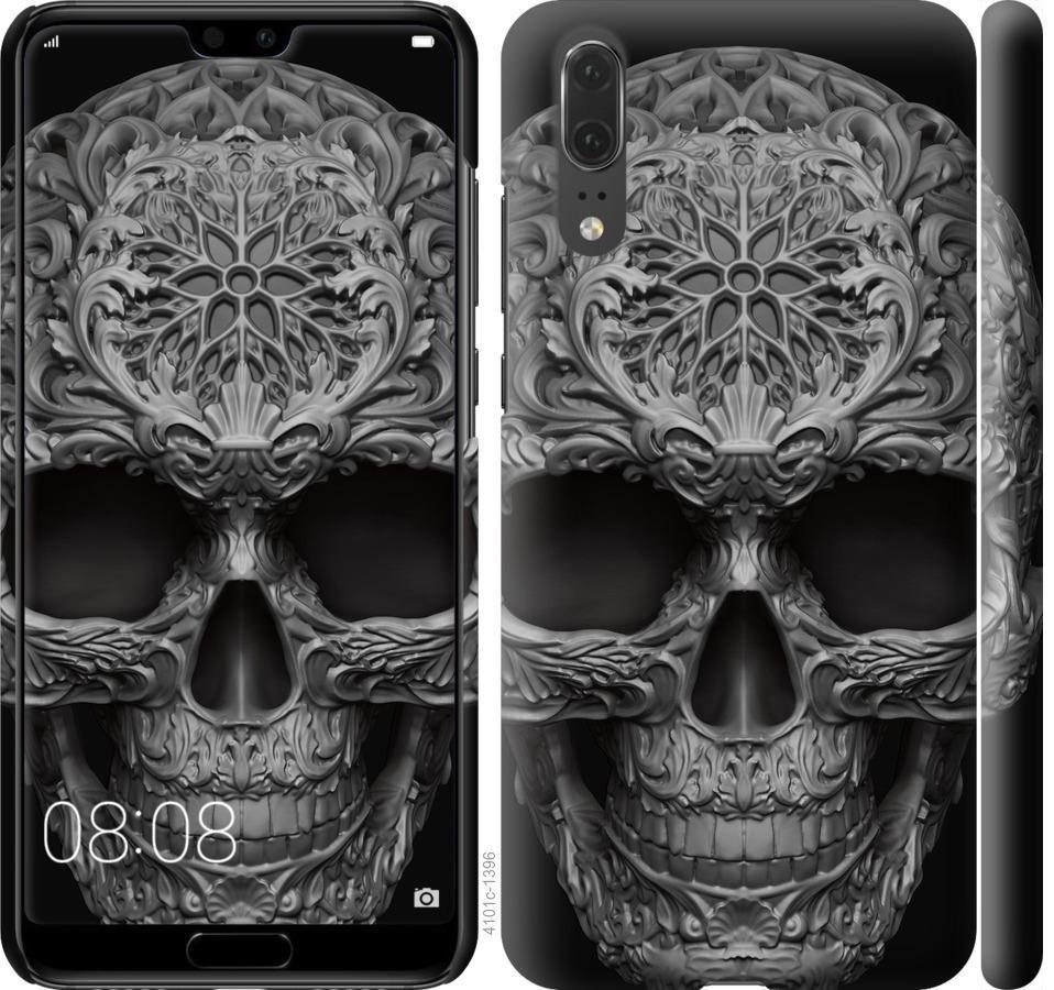 Чехол на Huawei P20 skull-ornament