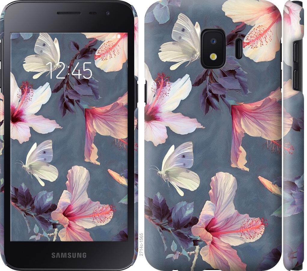 Чехол на Samsung Galaxy J2 Core Нарисованные цветы