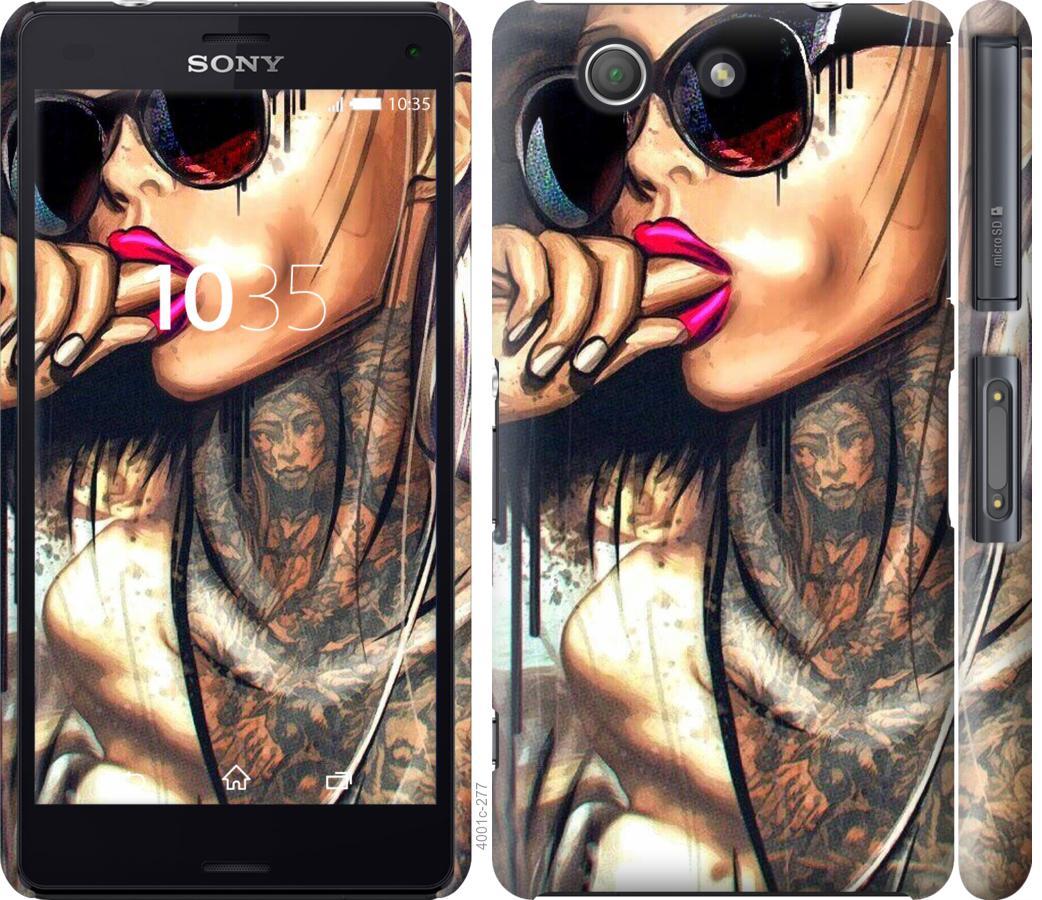 Чехол на Sony Xperia Z3 Compact D5803 Девушка в тату