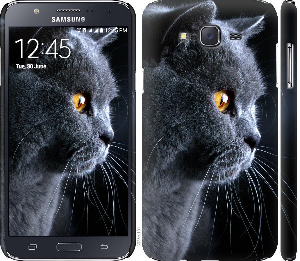 Чехол на Samsung Galaxy J7 J700H Красивый кот