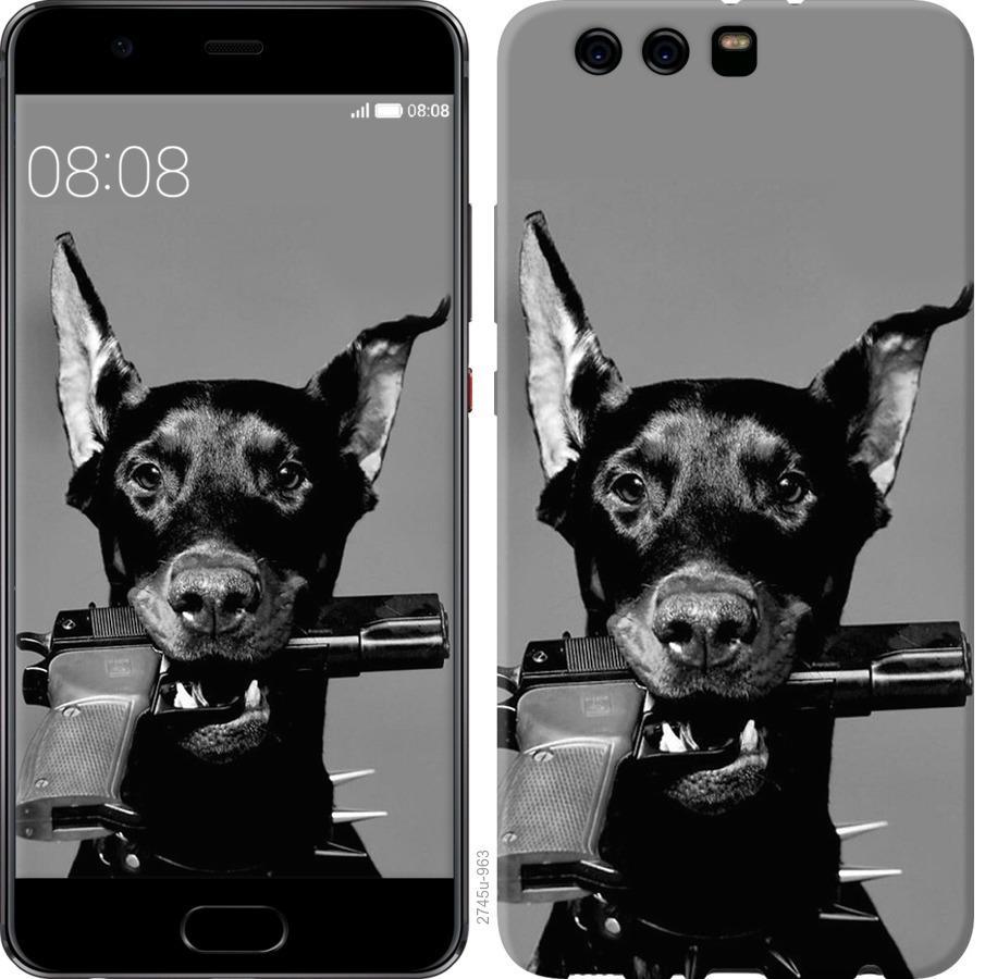 Чехол на Huawei P10 Plus Доберман