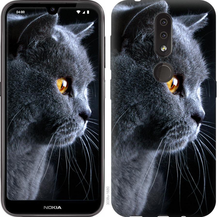 Чехол на Nokia 4.2 Красивый кот