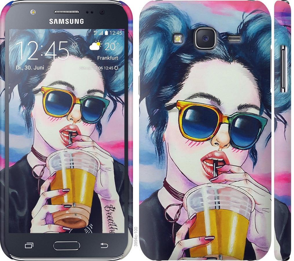 Чехол на Samsung Galaxy J5 (2015) J500H Арт-девушка в очках