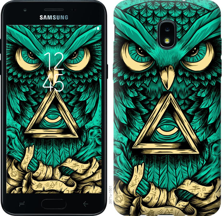 Чехол на Samsung Galaxy J3 2018 Сова Арт-тату