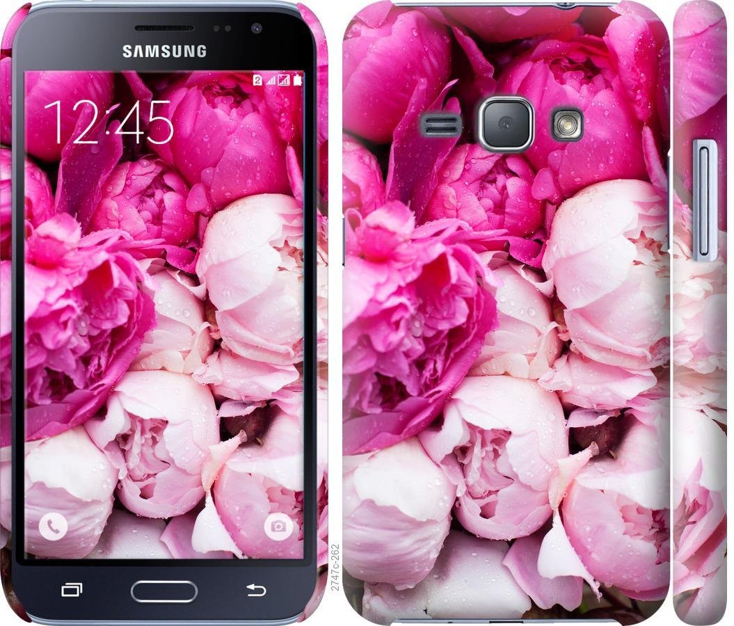 Чехол на Samsung Galaxy J1 (2016) Duos J120H Розовые пионы