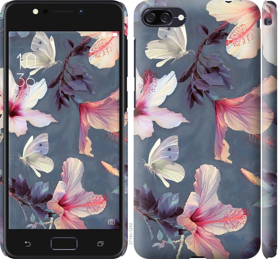 Чехол на Asus ZenFone 4 Max ZC520KL Нарисованные цветы