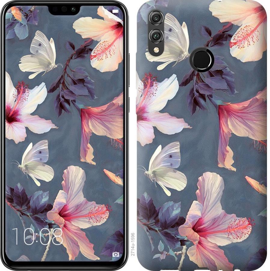 Чехол на Huawei Honor 8X Нарисованные цветы