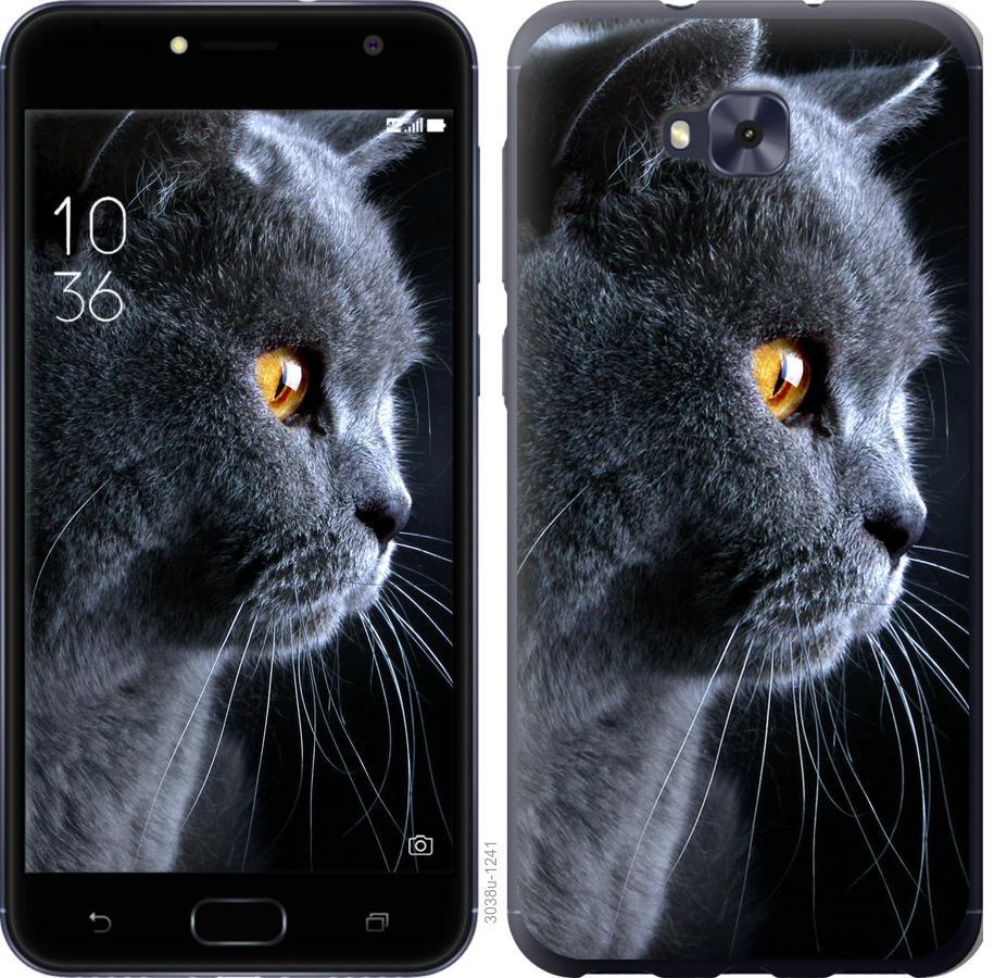 Чехол на Asus ZENFONE 4 SELFIE / ZD553KL Красивый кот