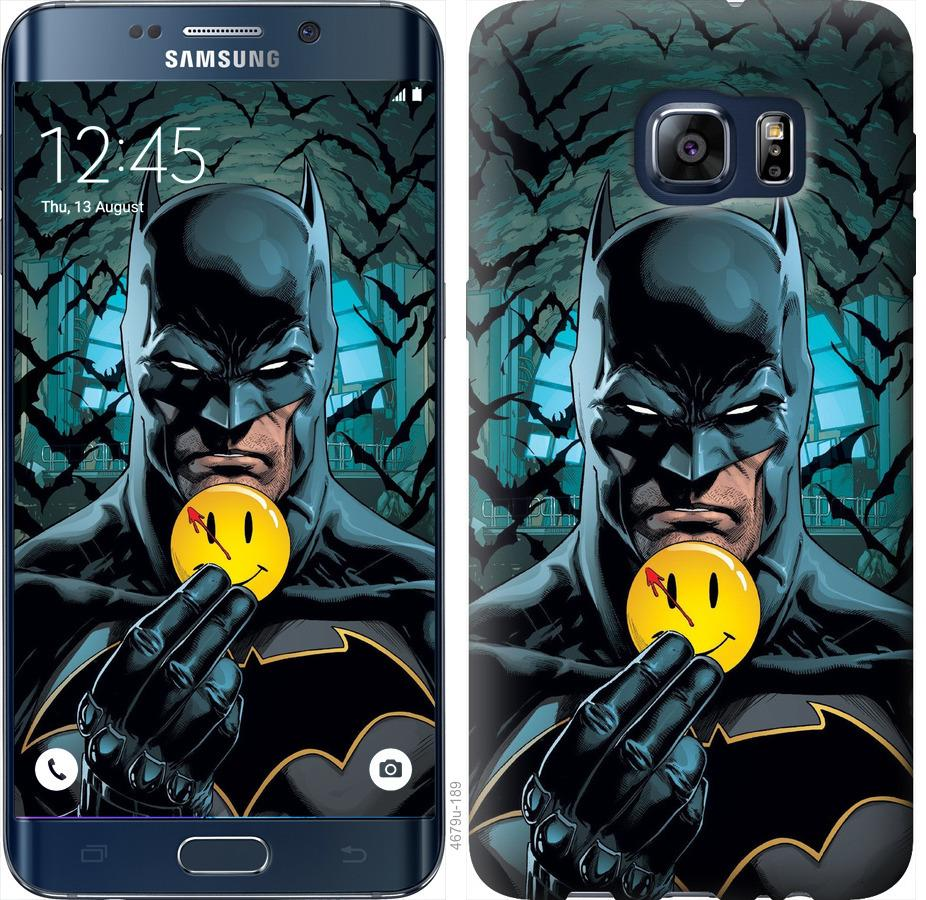Чехол на Samsung Galaxy S6 Edge Plus G928 Бэтмен 2