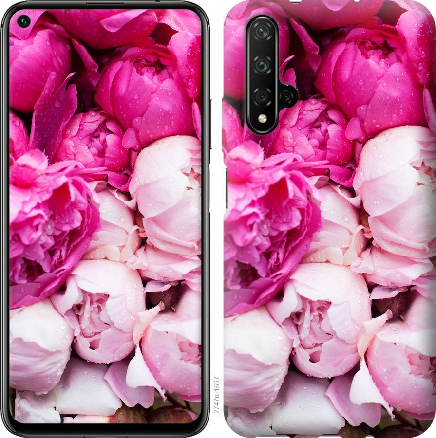 Чехол на Realme X50 Розовые пионы