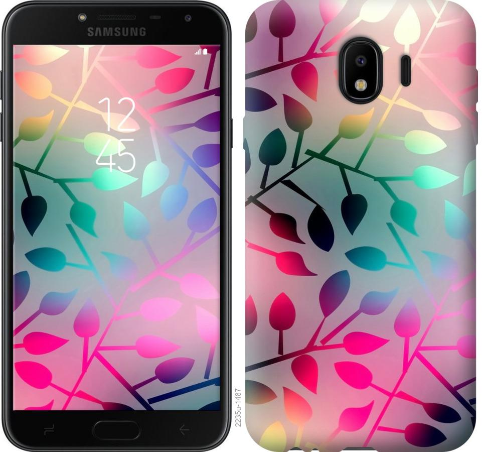 Чехол на Samsung Galaxy J4 2018 Листья