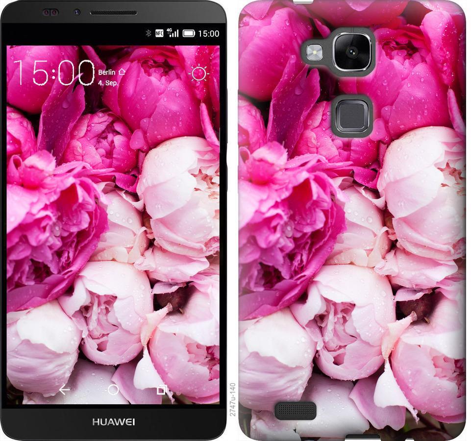 Чохол на Huawei Ascend Mate 7 Рожеві півонії