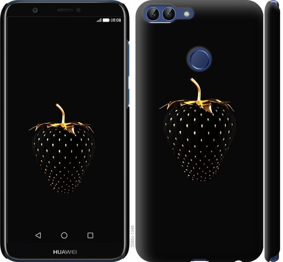 Чехол на Huawei P Smart Черная клубника